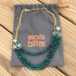 Alexis Bittar Triple Layer Bead & Stone Necklace